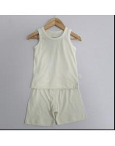 Organic Sleeveless Set - P024 (White)