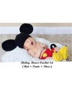 Baby Crochet Set~ Mickey Mouse Knitted Costume Photo Props
