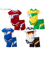 Football Club Romper Set  (Romper + Pants)