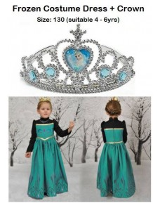 Frozen Costume Dress with Crown