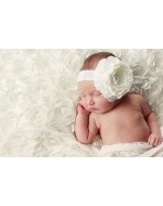 Elegance Big Flower Headband  (White/ Cream Colour)