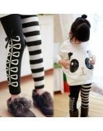 Girl's Black & White Legging