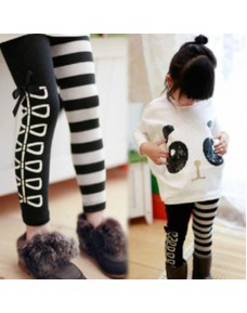 Girl's Black & White Legging