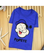 Cartoon Soft Cotton T-Shirts (Popeye)