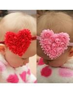 Heart Shape Style Headband (Pink/ Red)
