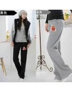 Comfortable Maternity Sport Pants (Black / Grey)