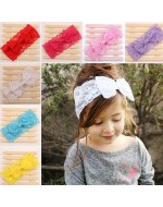 Soft Lace Bow Headband (7 Colors)