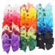 Colorful Grosgrain Ribbon Bows Hair Clips Hair Accessories (25 colors)