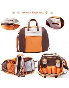 Aardman Multi-purpose/ Diaper Bag (6pcs Set)