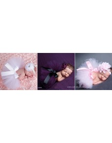 Beautiful Baby Girl Tutu Headband Set for Photo Props