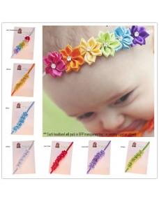 Little Flowers with Rhinestone Headbands (14 colors)