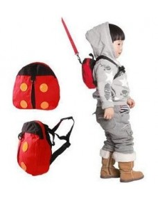 Baby/ Toddler Safety Harness Backpack Straps (Lady Bug)