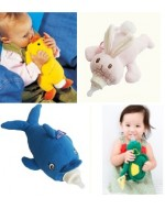 Baby Animal Plush Bottle Holder/ Cover (Duck/ Dolphin/ Rabbit/ Turtle)