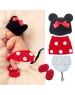 Baby Crochet Set~ Minnie Mouse Knitted Costume Photo Props