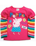 Peppa Pig Embroidery Rainbow Long sleeve T-shirt