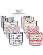 Luvable Friends PEVA Bibs (4pcs/Set)