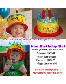 Fun Birthday Hat for 1 year & 2 years old Baby