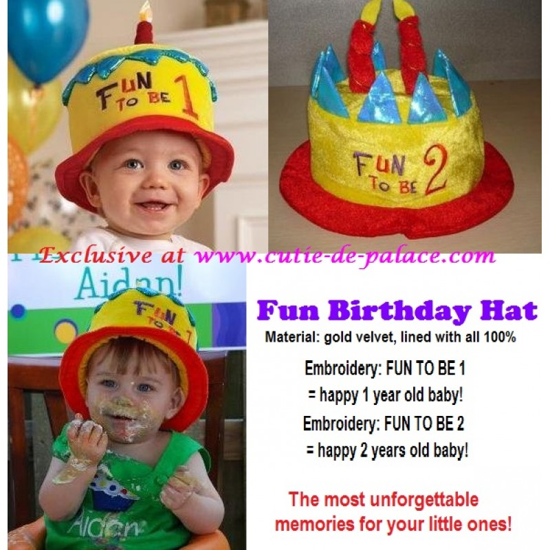 Fun Birthday Hat For 1 Year 2 Years Old Baby