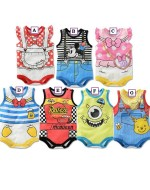 Lovely Cartoons Sleeveless Rompers (7 Designs)