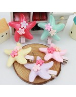Starfish Shape Flowers Clips (5 colours)**BUY 1 FREE 1**