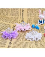Sweet Princess Rhinestone Crown with Lace (3 colors) Hair Clip