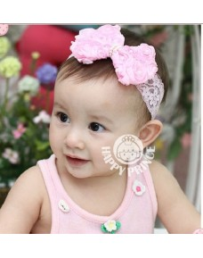 Sweet Baby Girls FLORAL RIBBON Headbands (2 colours)