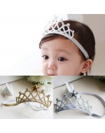 Baby/ Girls Crown Scrunchy Princess Tiara Star Headbands