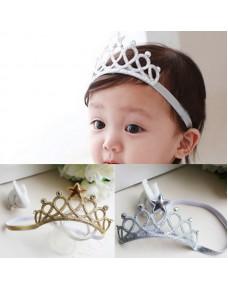 Baby/ Girls Crown Scrunchy Princess Tiara Star Headbands