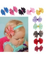 Ribbon Polka Dot Bowknot Photography Headwear Accessories (10 colours)