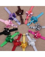 Mini Sequin Butterfly with Satin Rose Flower Headbands (10 colours)