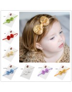 Baby Photo Prop Sequin Bows Shiny Headband (10 colors)