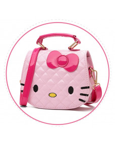 Hello Kitty PU Sling Tote Bag (Pink/ White)