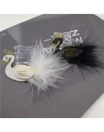 Beautiful Glitter White and Black Swan Hair Clip