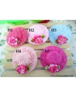 Beautiful Rose Flower Hat Style Hair Clip