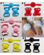 Sweet Flower Headband & Pre-walker (6 colours)