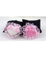 Beautiful Heart/ Bear Shape - Pink/ White Hair Clips **BUY 1 FREE 1**