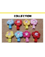 Hello Kitty Flower Hair Clips (8 colors / designs)