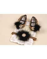 Beautiful Leopard prints Shoes & Headband Sets