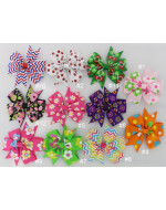 Colorful Printed Grosgrain Ribbon Bows Hair Clips Hair Accessories