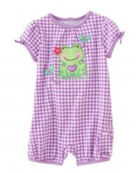 Jumping Beans - Cheerful Frog Purple Rompers