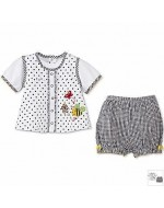 Jumping Beans - Cute Summer Wear - Black & White