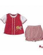 Jumping Beans - Cute Summer Wear - Red & White