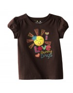 Jumping Beans - Sunny Day Girl's T-Shirt (brown)