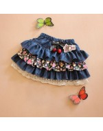 Baby Girl Pleated Denim Skirt (2-5yrs)