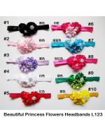 Beautiful Princess Flowers Headbands (L123)