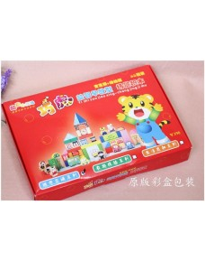 Lovely Qiao Hu Collection -  QiaoHu Early Leaning Wooden Blocks (Traffic ~ City)