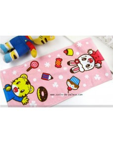 Lovely Qiao Hu 巧虎 QiQi Bath Towel (PINK/ BLUE)