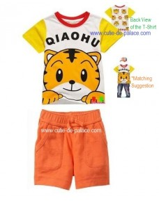 Lovely Tiger  (Qiao Hu 巧虎) -  T-Shirt & Pants Set (unisex)