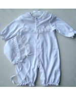 Sweet White Baby Romper with Hat