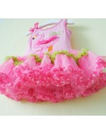 'Rare Editions' Sleeveless Pink Flamingo Tutu Dress + Tights Set